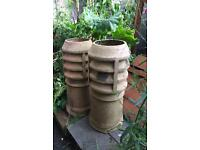 Victorian/Edwardian Chimney Pots - Pair