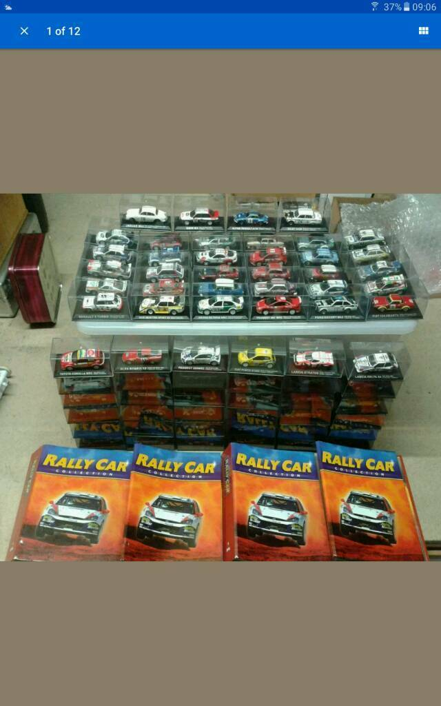 Complete Set of 70 Rally Cars 1/43 from the DeAgostini Rally Car ...