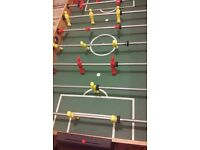 Indoor pool and football table