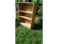Oak veneer bookcase