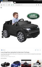 Childrens electric range rover sport 6.v