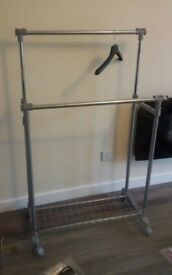 Free standing clothes rail, strong
