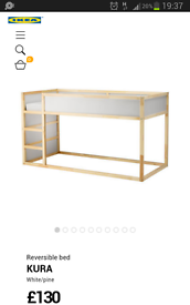 Childrens ikea kura bed
