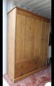 Solid Pine Wardrobe /door need attention,possible local delivery