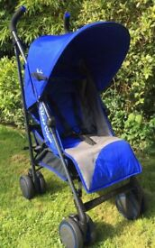 Silver cross pop 2 royal blue, umbrella fold buggy pushchair