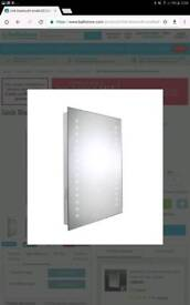 LED Bluetooth mirror with light and sound, brand new in box