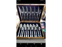 New complete cutlery set Greek key design complete in lovely box