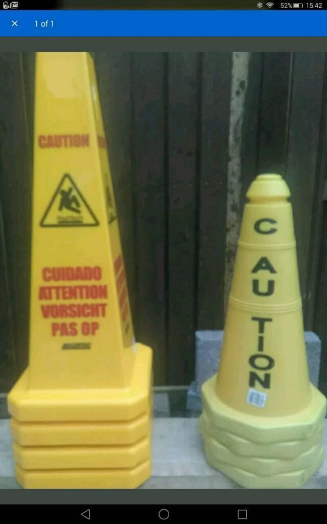 Warning cones - brand new