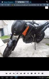 KTM Duke II 2005 breaking,all parts or complete in daily use.