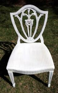 Prince Of Wales Feather White Shabby Chic Shield Chair