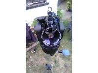 Meade etx 90 Autostar telescope and stand.