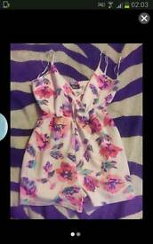 New neon floral playsuit
