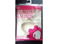 **BRAND NEW** Ultimate Cream Non Iron Long Sleeve School Blouse - Pack of 2 (14-15 Years)