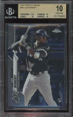 2020 Topps Chrome #60 Luis Robert RC Rookie Pristine BGS 10