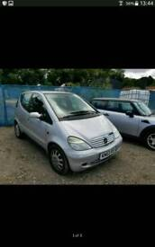03 PLATE MERCEDES A160 1.6 PETROL, P/X TO CLEAR, READ ALL OF ADD.