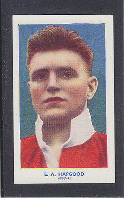 Hill - Famous Footballers (Archer) 1939 # 6 Hapgood - Arsenal