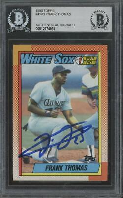 1990 Topps #414B Frank Thomas RC Rookie BGS/BAS Authentic Auto