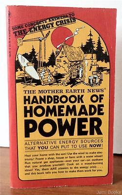 The Mother Earth News Handbook Of Homemade Power 1974 Paperback Alternative Vg