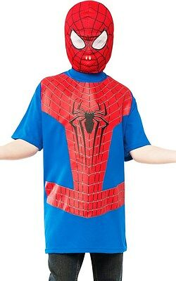 The Amazing Spiderman 2 Kostüme (The Amazing Spider-Man 2 T-Shirt for Boys (all sizes) w/Mask New by Rubies)