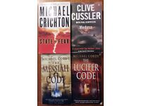 Books - by Michael Cordy, Clive Cussler and Michael Crichton