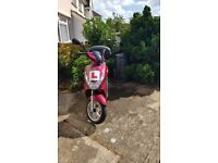 Cherry Red Peugeot kisbee 50cc/ deregulated