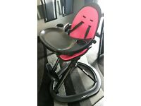 Ickle Bubba Orb highchair black and Pink