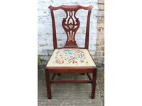 Set of 3 Antique Chippendale Style Mahogany Dining Chairs UK Delivery