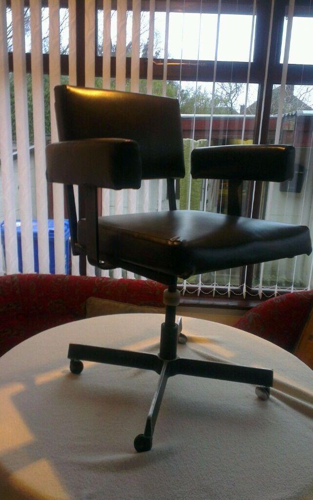 Vintage Steel Desk Swivel Chair Roneo Vickers 1960 70 S Retro Operator Office