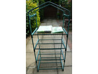 Gardman 4 tier greenhouse + reinforced cover + fleece cover