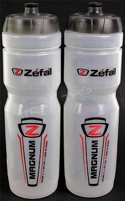 2-Pack Zefal Magnum 33oz 1L Bike Water Bottles BPA Free Dishwasher Safe Clear