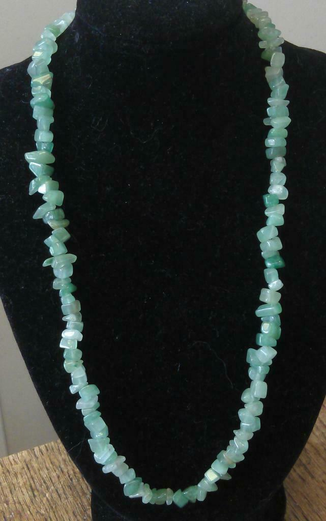 "Aveturine Chip Necklace 16"" to 34"", Long Necklace, Short Necklace"