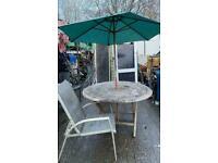 Table & Umbrella