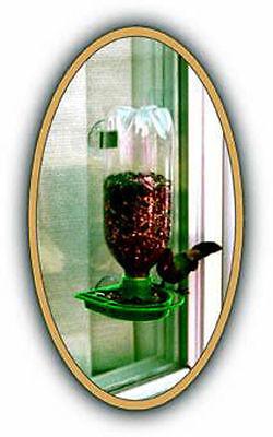 1 Window Soda Bottle Wild Bird Feeder kit  Green MADE IN USA