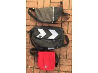 Three courier/shoulder bags for sale, two Crumpler, one Howies, all in great condition