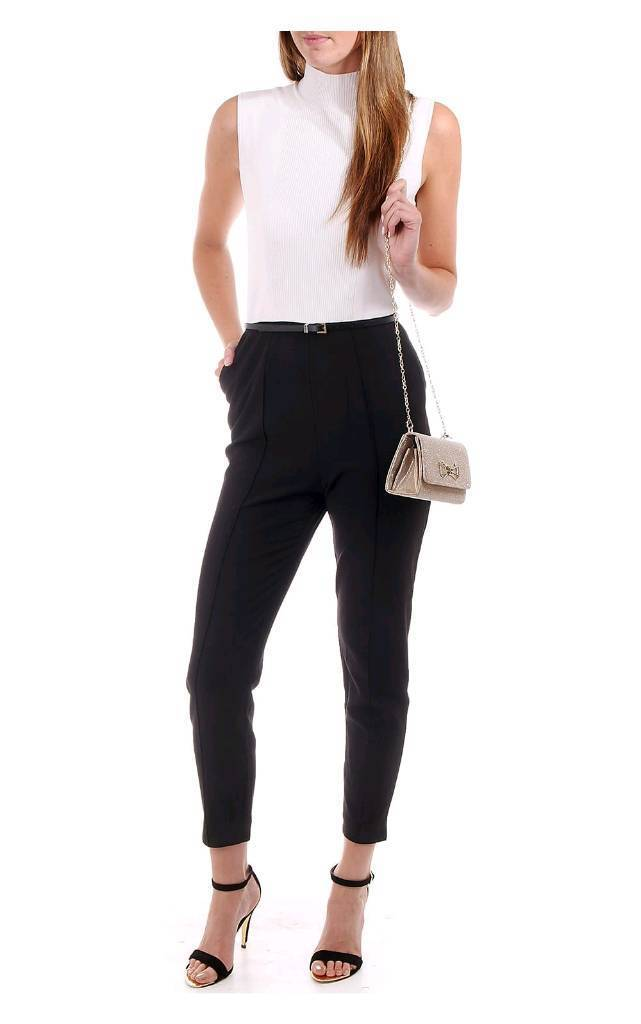 cd9754cc2706 NEW - Ted Baker Maciie High Neck Rib Front Jumpsuit Black (UK 10 ...