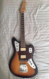 Fender Kurt Cobain Road Worn Jaguar Sunburst w/ Hardshell Case