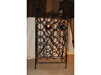 Wine Rack Wrought Iron