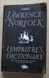 Lempriere's Dictionary by Lawrence Norfolk (Paperback; 1998)