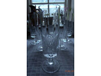 Champagne glasses, 6 high quality glass in perfect condition, £12