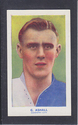 Hill - Famous Footballers (Archer) 1939 # 3 Ashall - Coventry