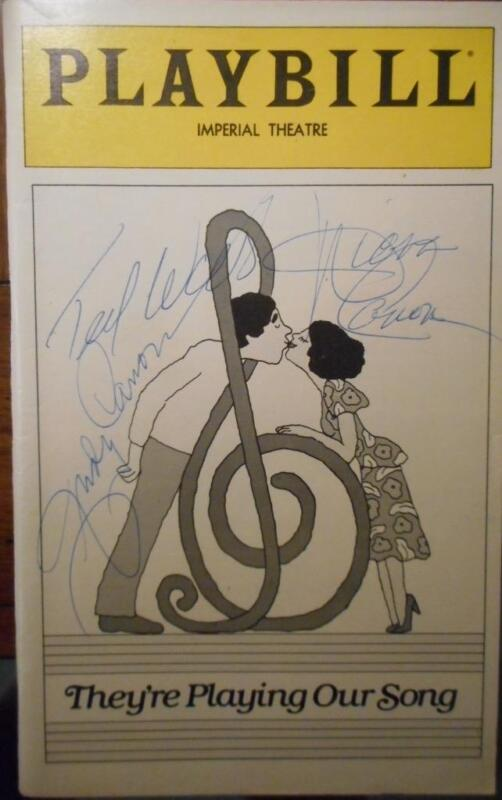 Diana Canova  Judy Canova Ted Wass Signed Playbill They're Playing Our Song 1981