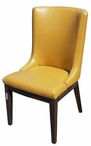 Mustard Color Leather Dining Room Chair - 40 chairs in stock for Restaurants and Hotels.