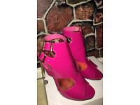 Pink Women Heels Peivileged