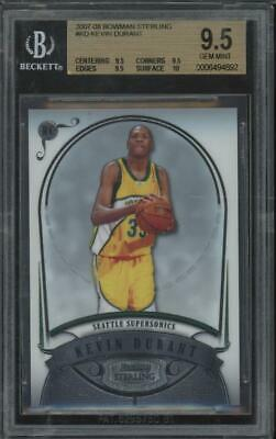 2007 Bowman Sterling Kevin Durant (9.5 9.5 9.5 10) RC Rookie Gem Mint BGS 9.5