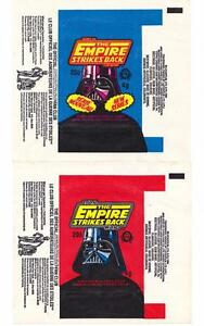 2 DIFFERENT 1980 STAR WARS EMPIRE STRIKES BACK WAX GUM WRAPPERS