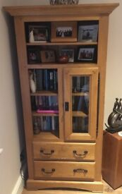 Solid Oak Book Case (immaculate condition)