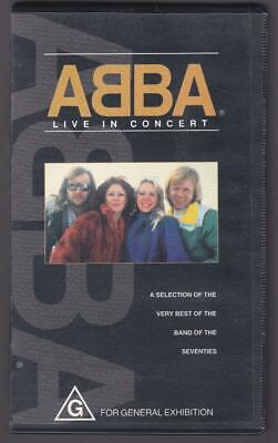 Abba; Live in Concert - VHS, 1993