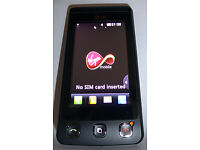 LG KP500 'Cookie' Virgin, Black Mobile Phone. Battery good. In good condition. £10
