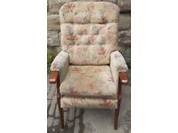 Highback Wood Framed Armchair