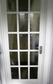 White internal glazed door